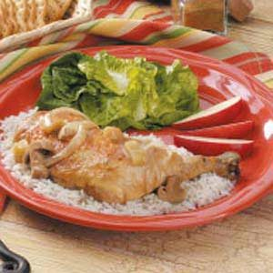 Cumin Chicken With Apples Recipe