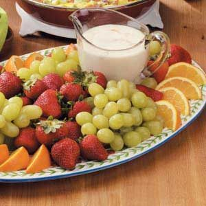 Creamy Orange Fruit Dip Recipe
