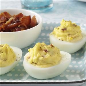 Bacon-Cheddar Deviled Eggs