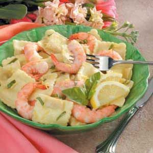 Lemon Shrimp Ravioli Toss Recipe