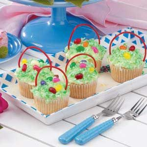 Cupcake Easter Baskets Recipe