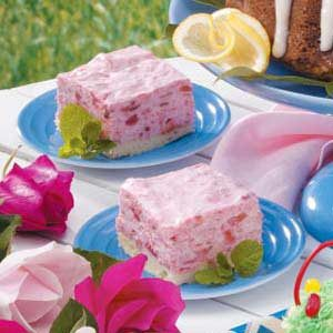 Rhubarb Shortbread Squares Recipe
