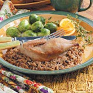 Partridge with Wild Rice Recipe