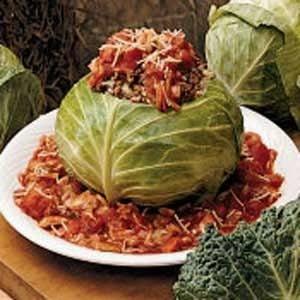 Stuffed Whole Cabbage Recipe