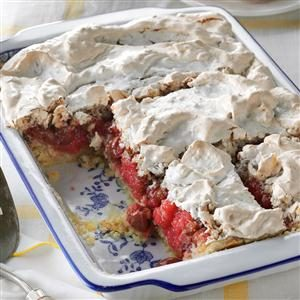 Tart Cherry Meringue Dessert Recipe