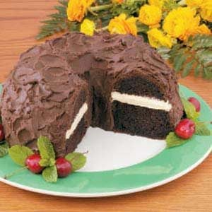 Chocolate Cake with Peanut Butter Filling Recipe