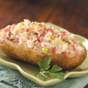 Reuben Baked Potatoes Recipe