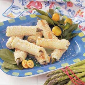 Cheesy Asparagus Sesame Rolls Recipe