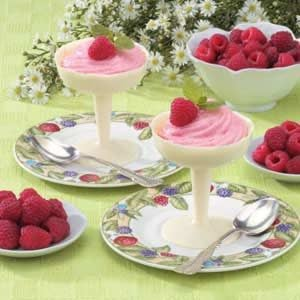 Raspberry Mousse In Chocolate Cups Recipe