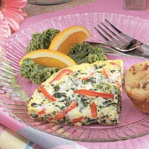 Spinach Chicken Frittata Recipe