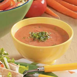 Six-ingredient Basil Tomato Soup Recipe