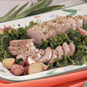 Herbed Pork Tenderloin and Potatoes Recipe
