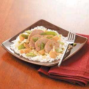 Snow Pea Pork Medley Recipe