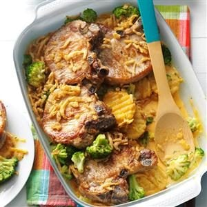 Baked Chops and Cottage Fries Recipe