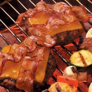 Dressed-Up Bacon Burgers Recipe