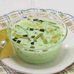 Cabbage-Cucumber Gelatin Cups Recipe