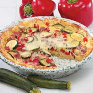 Vegetable Potato Quiche Recipe