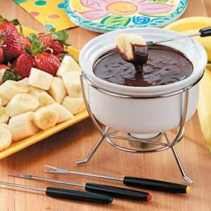 Peanut Butter Chocolate Fondue Recipe