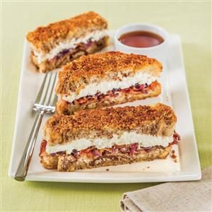 Breakfast Ricotta Granola Crumble Grilled Cheese Recipe