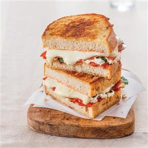 Margherita Pepperoni Grilled Cheese Recipe