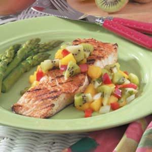 Halibut with Kiwi Salsa Recipe photo by Taste of Home