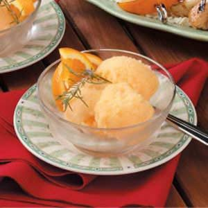 Orange Rosemary Sorbet Recipe