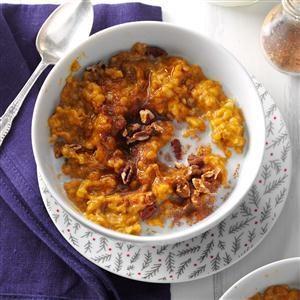 Pressure Cooker Pumpkin Spice Oatmeal Recipe