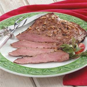 Onion-Rubbed Flank Steak Recipe