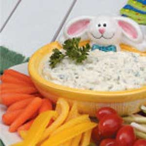 Creamy Parsley Veggie Dip Recipe
