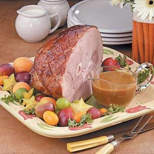 Plum-Glazed Gingered Ham Recipe