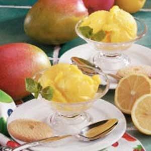 Mango Lemon Sorbet