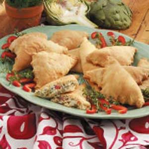 Creamy Herb Appetizer Pockets Recipe