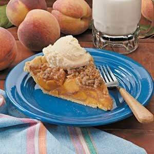 Peach Streusel Pie Recipe