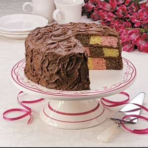 Checkerboard Birthday Cake Recipe