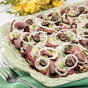 Potato Roast Beef Salad Recipe