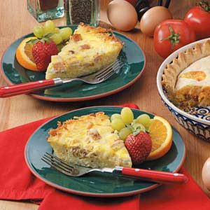 Potato-Crust Chicken Quiche Recipe