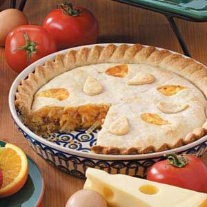 Double-Crust Onion Quiche Recipe