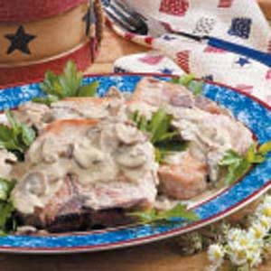 Pork Chops in Mustard Cream Sauce Recipe