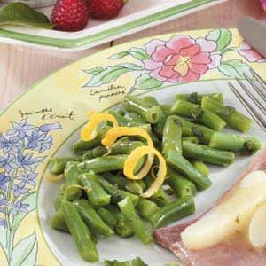 Lemon Mint Beans Recipe