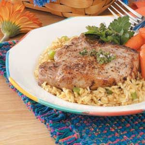 Pork Chops with Cumin Rice