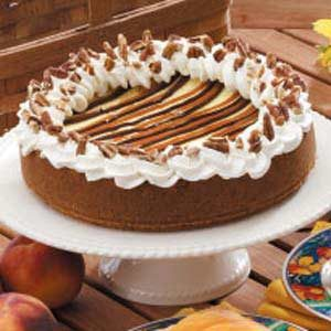 Caramel Stripe Cheesecake Recipe