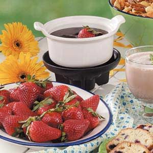 Chocolate Dessert Fondue Recipe