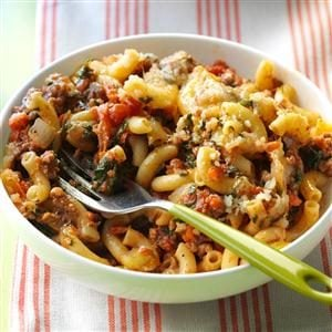 Spinach Beef Macaroni Bake Recipe