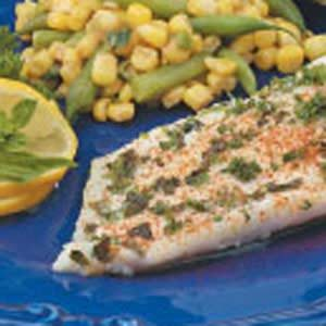 Herbed Orange Roughy with Mushrooms Recipe