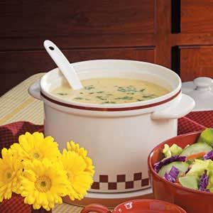 Homemade Cheesy Potato Soup Recipe