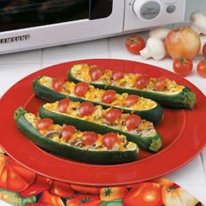 Colorful Zucchini Boats