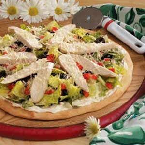 Chicken Caesar Salad Pizza Recipe