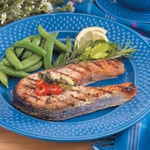 Lemon-Herb Grilled Salmon Steaks Recipe