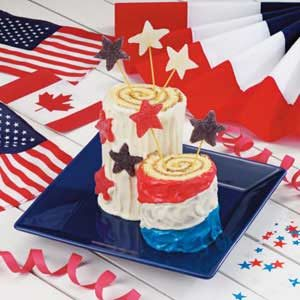 Firecracker Roll-Up Cakes Recipe