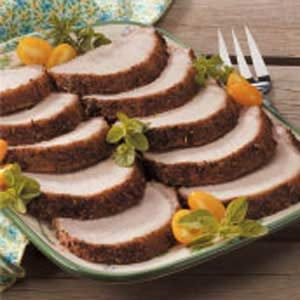 Grilled Herbed Pork Roast Recipe